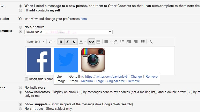 How to Add Social Media Links to Your Gmail Signature