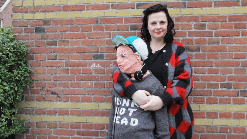 Mother Makes Knitted Version of Her Son For Cuddling, Still Can't Understand Why Real One Won't