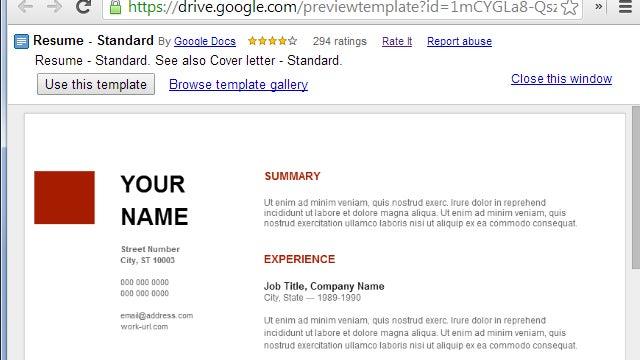 Use Google Docs  39  Resume Templates