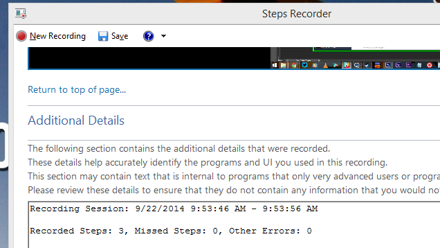 how to use steps recorder