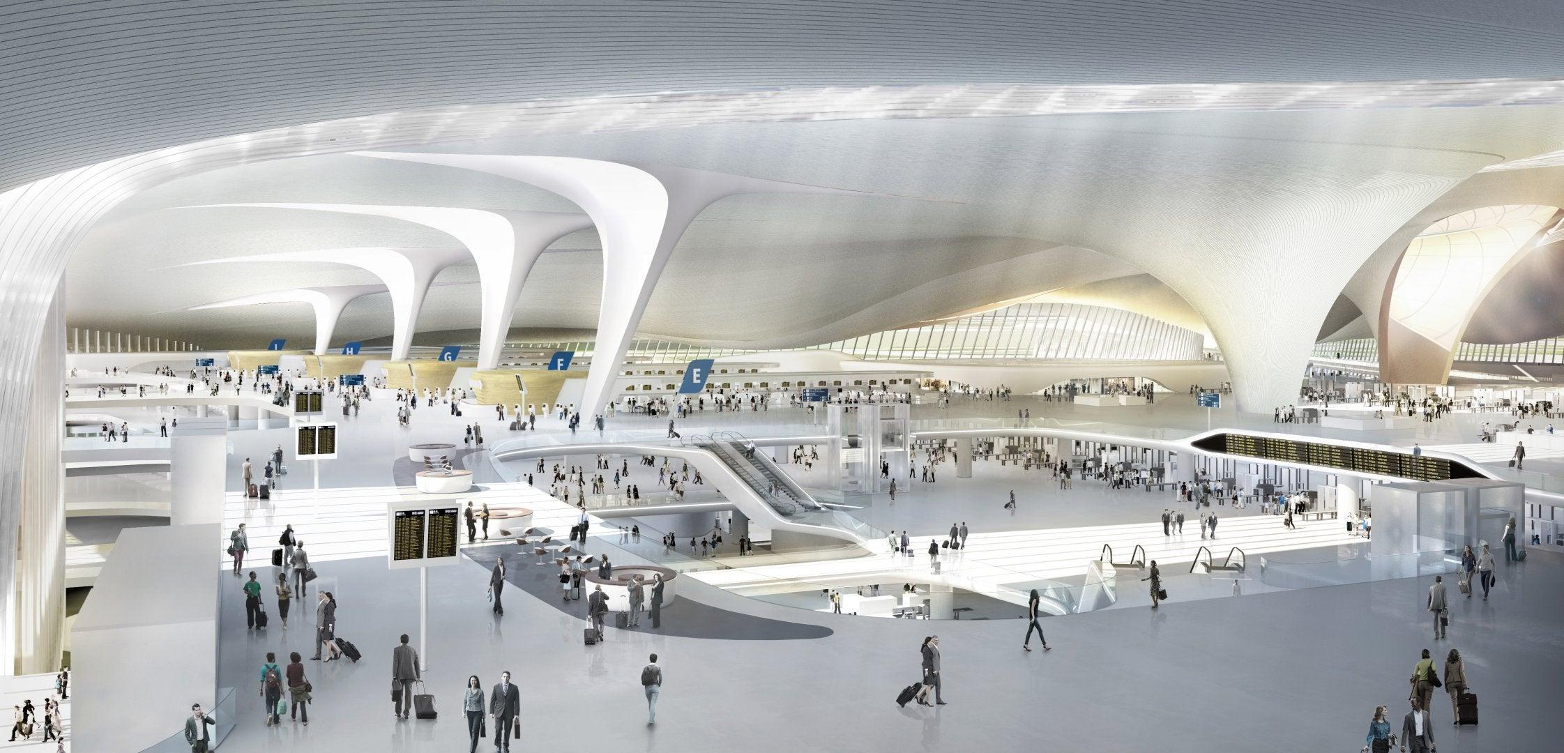 Beijing Airport Inside Beijing's New Airport Terminal