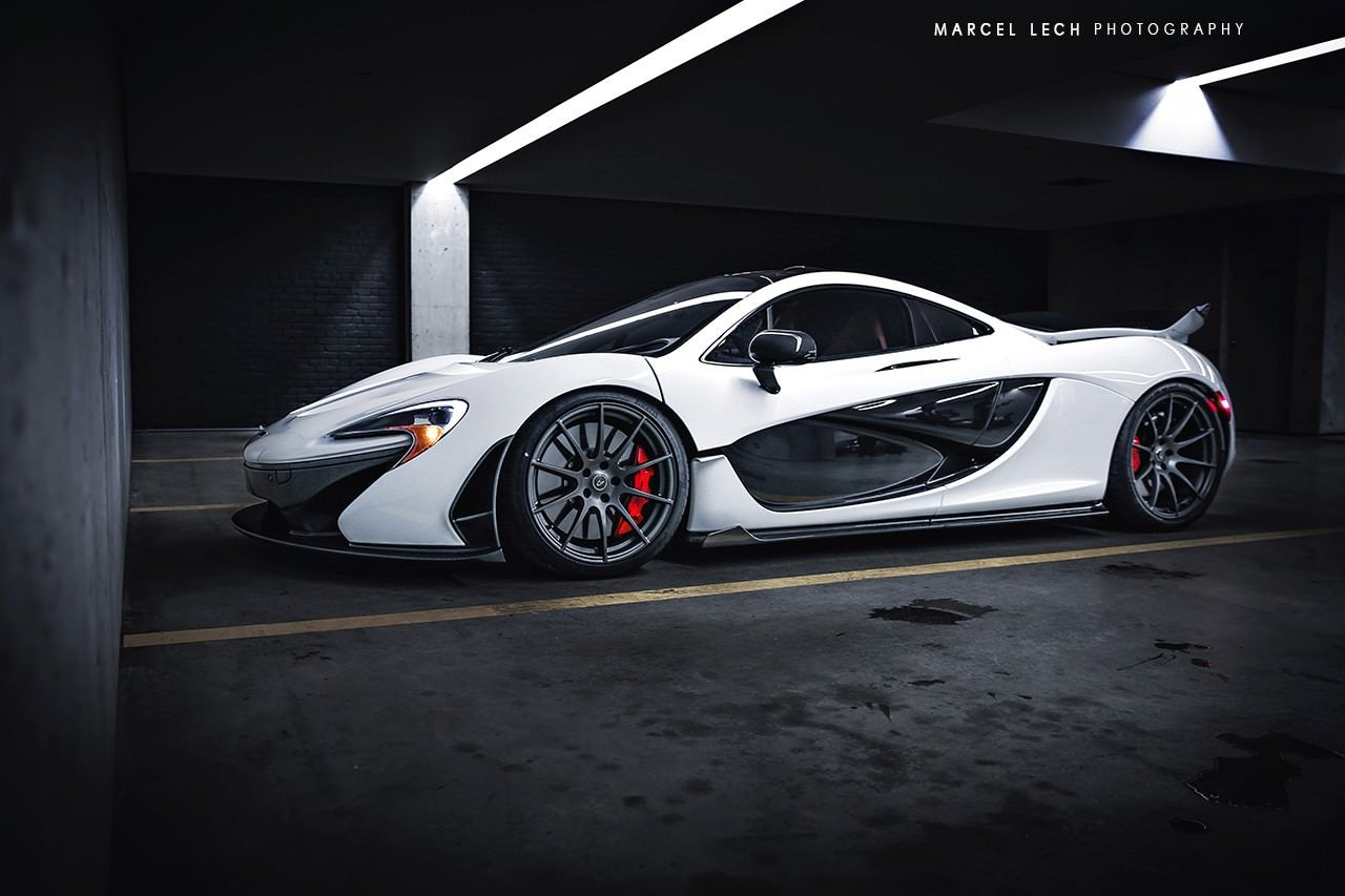 Mclaren p1 White Mclaren p1 in The Wild