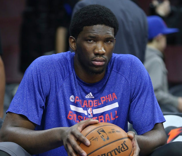 Embiid will be back on the bench another year after re-fracturing his foot bone