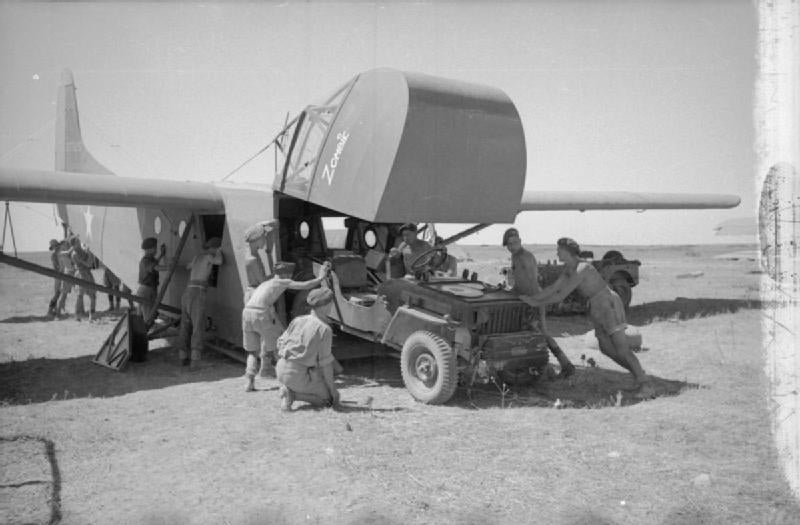 Loading Jeep In A Glider