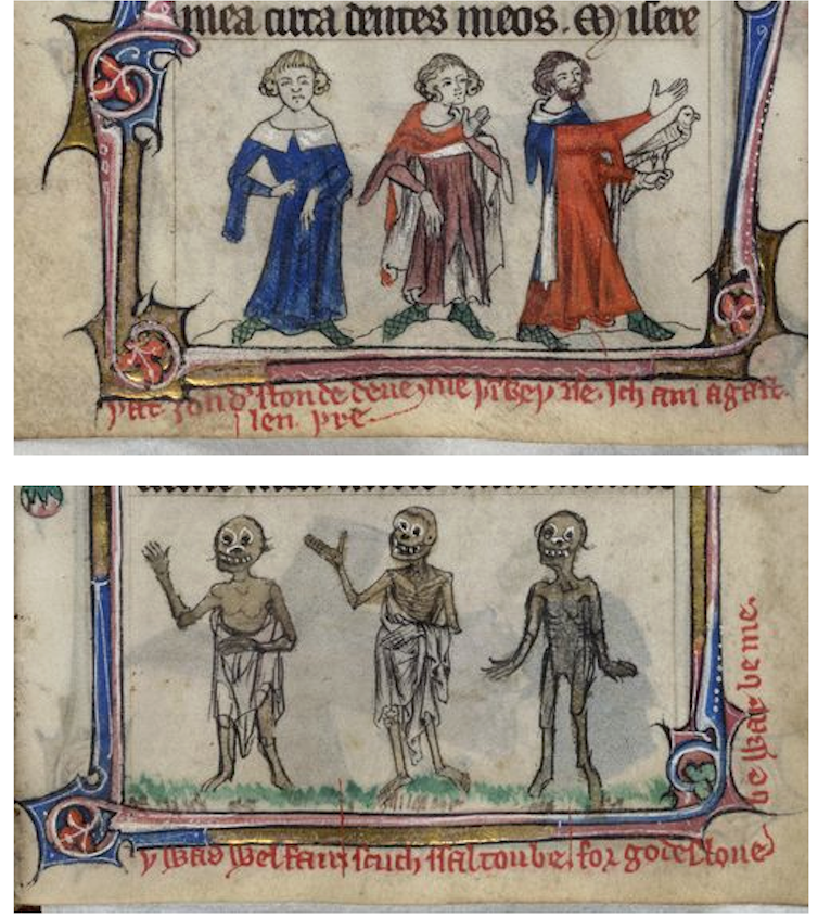 zsglw82aqnx3sk5nynua Středověké rukopisy líčí příběh živých mrtvých
