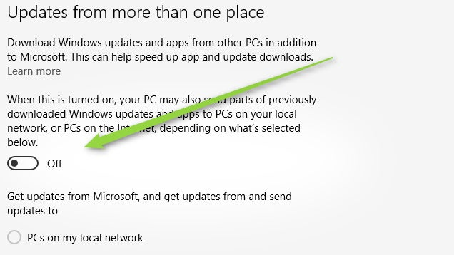 Windows 10 Uses Your Bandwidth to Distribute Updates, Disable It Here
