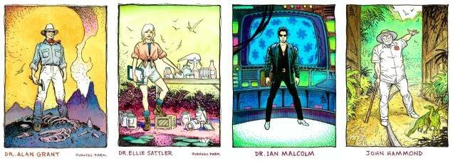 Concept art de la serie animada de Jurassic Park