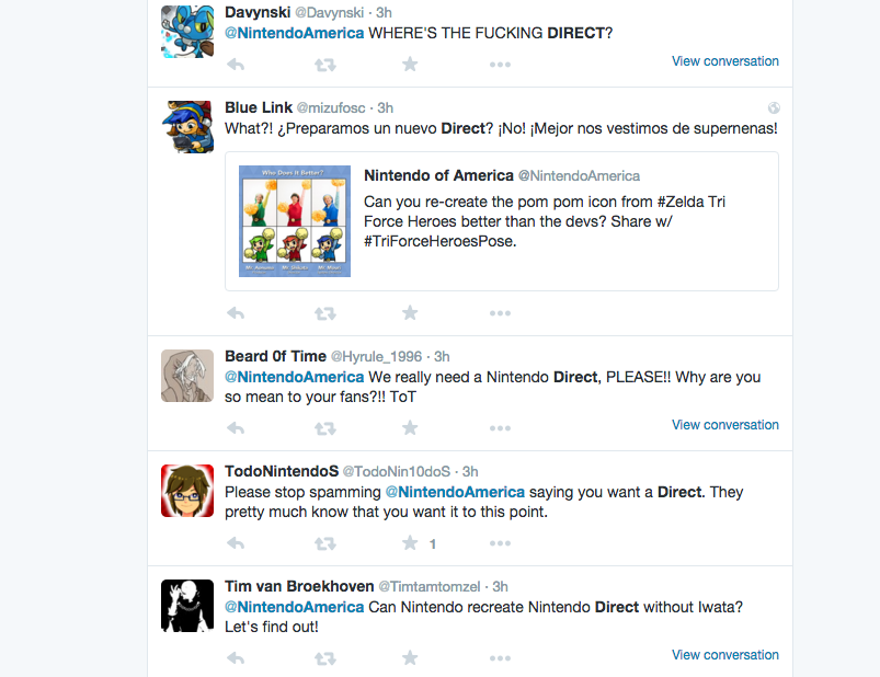 Nintendo Fans Are Thirsty For A New Nintendo Direct 02