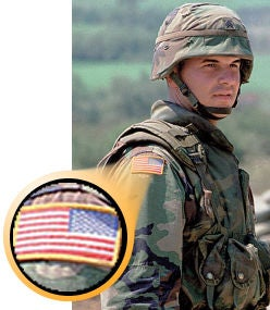 Explained why is the army flag patch reversed?
