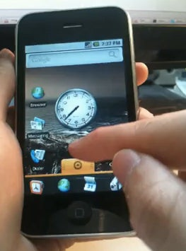 run android apps on iphone iphone 3g shown running android 17981