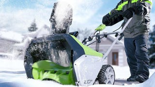 Get a Discounted Greenworks Snow Thrower Before The Next Big Storm