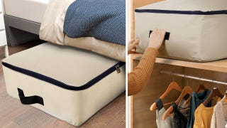 Store Your Extra Clothes and Bedding In This $10 Under-Bed Bag