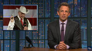 Late-night hosts have some thoughts about Alabama's bigoted, gun-totin' GOP senate candidate Roy Moore