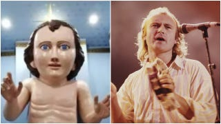 22-foot baby Jesus statue looks disconcertingly like Phil Collins