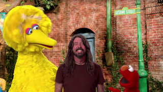 Dave Grohl stops by just to hit the road on Sesame Street