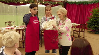 Recapture that old Great British Bake Off feeling with this teaser for Mary, Mel, and Sue's new Christmas spec