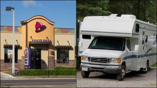 Driving an RV backwards into a Taco Bell drive thru works as well as you'd expect