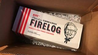 Will a KFC firelog make your house smell like fried chicken?