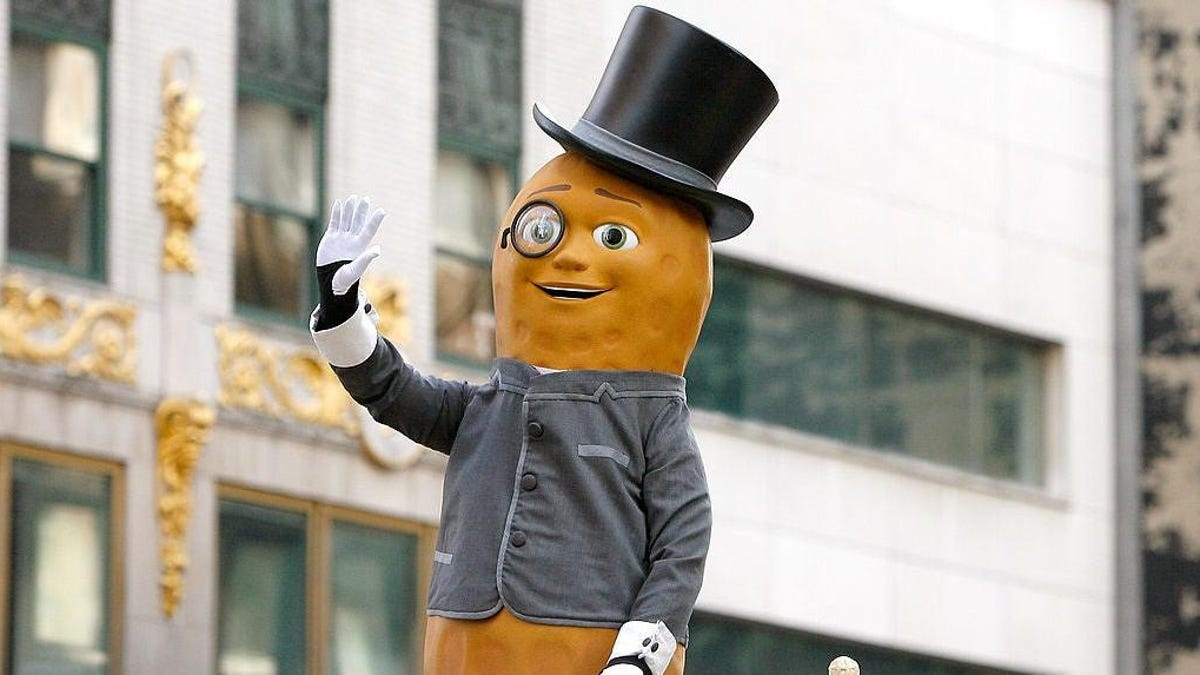 Mr. Peanut-shaped UFO turns out to be Planters balloon ad