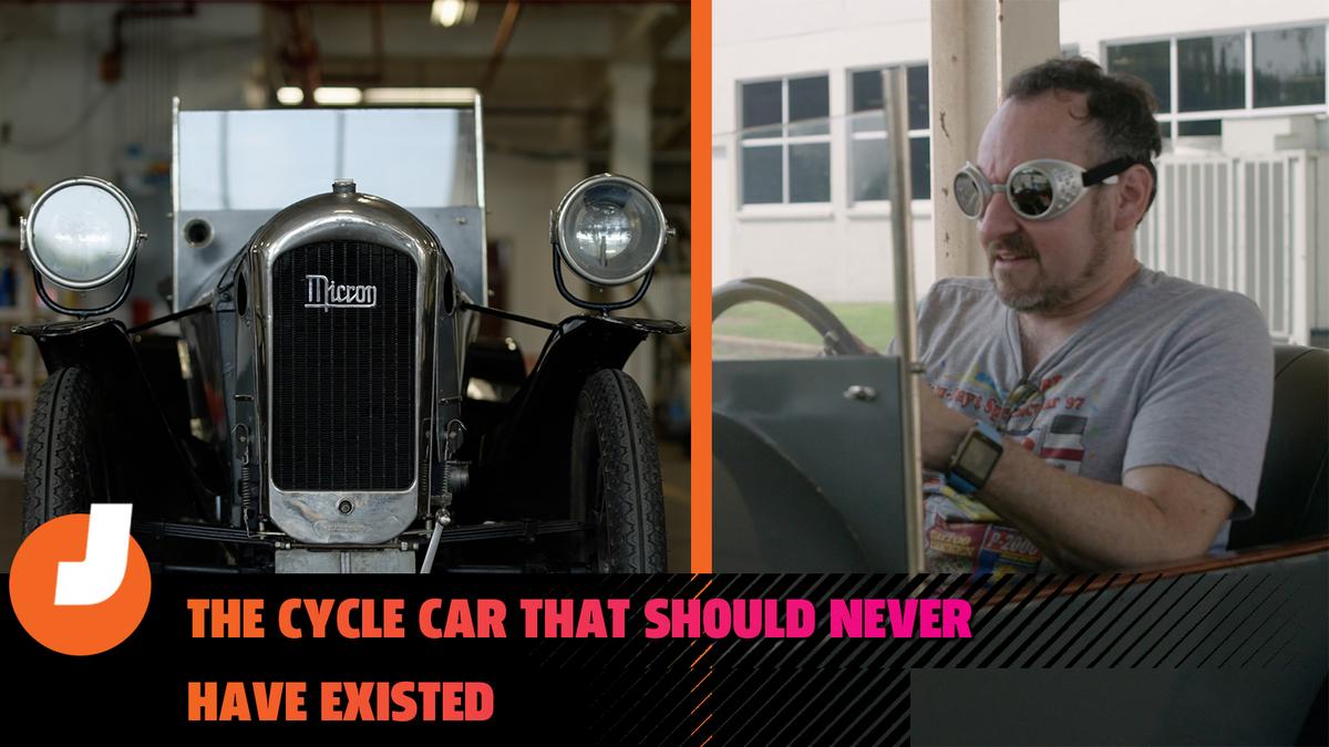 Jason Drives ist zurück und es beginnt mit einem seltsamen 97 Jahre alten Cyclecar, das keinen Sinn ergibt