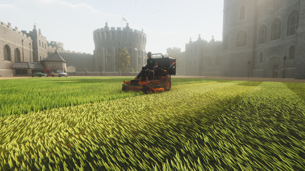 Searching for meditative transcendence in Lawn Mowing Simulator