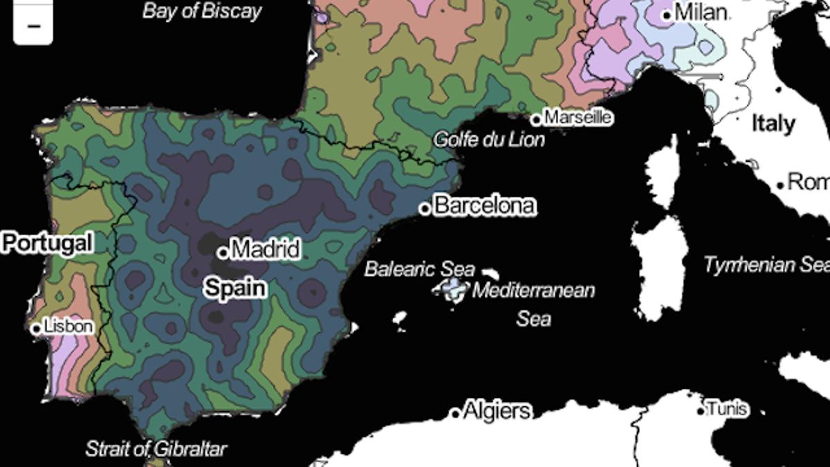 ¿Viajas por Europa? Este mapa muestra cuánto recorrerás en 1 día de tren