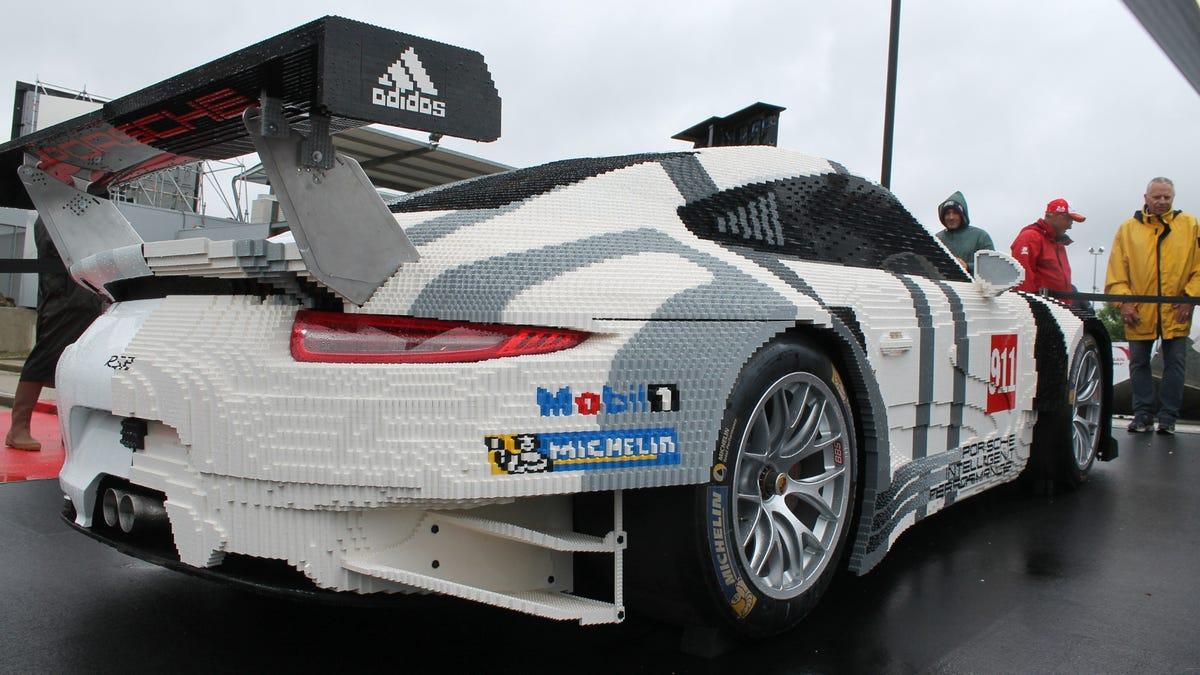 Half Of This Porsche Is Made Of Lego Bricks
