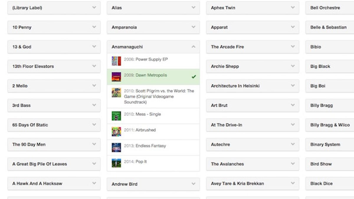 Discographer Scans Your iTunes Library for Artist's Missing Albums
