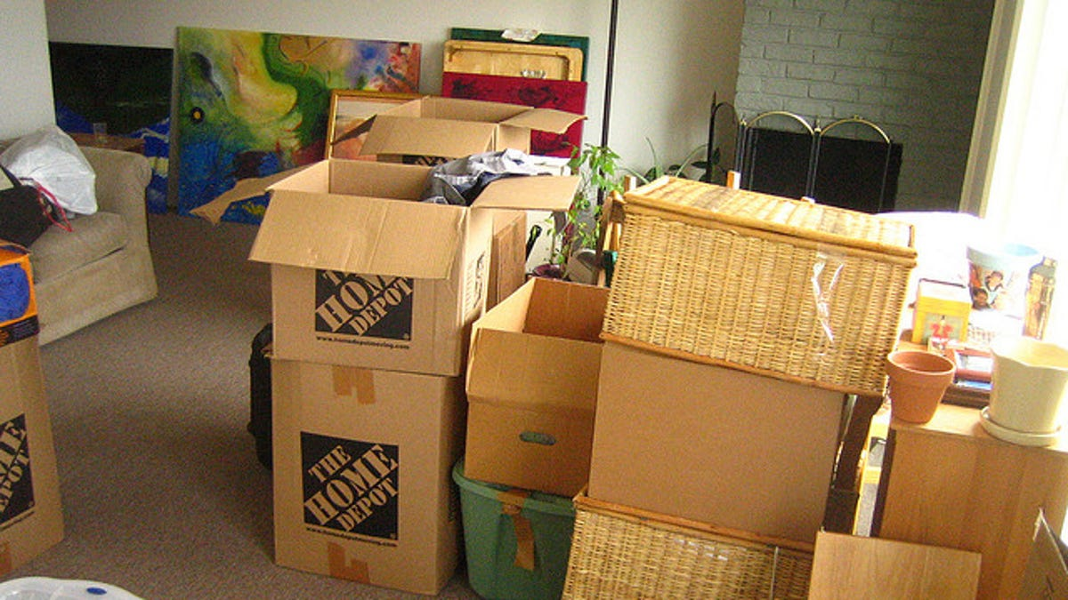 Declutter By Packing Up All Your Stuff, Only Unpack What You Need