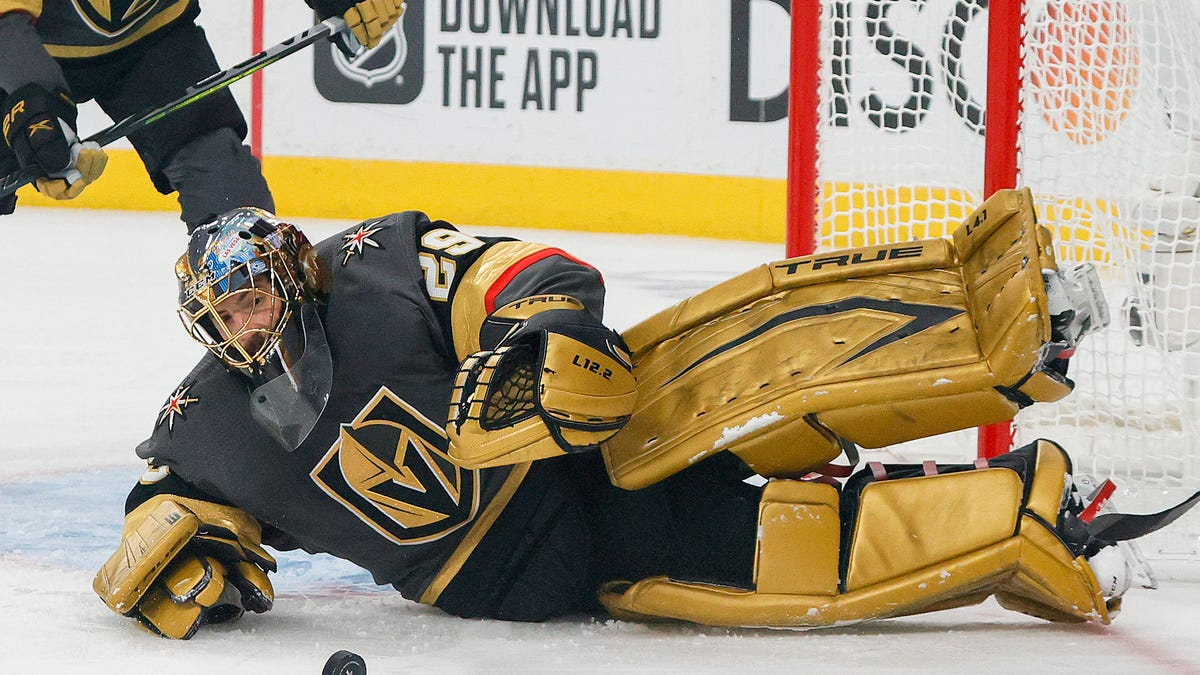 Vegas donates Marc-Andre Fleury to Hawks, if he shows up