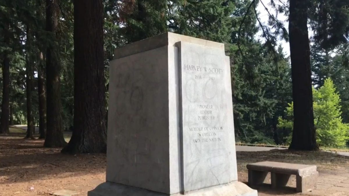 Portland, Ore., Statue of Only Black Person to Travel With Lewis and Clark Toppled Over