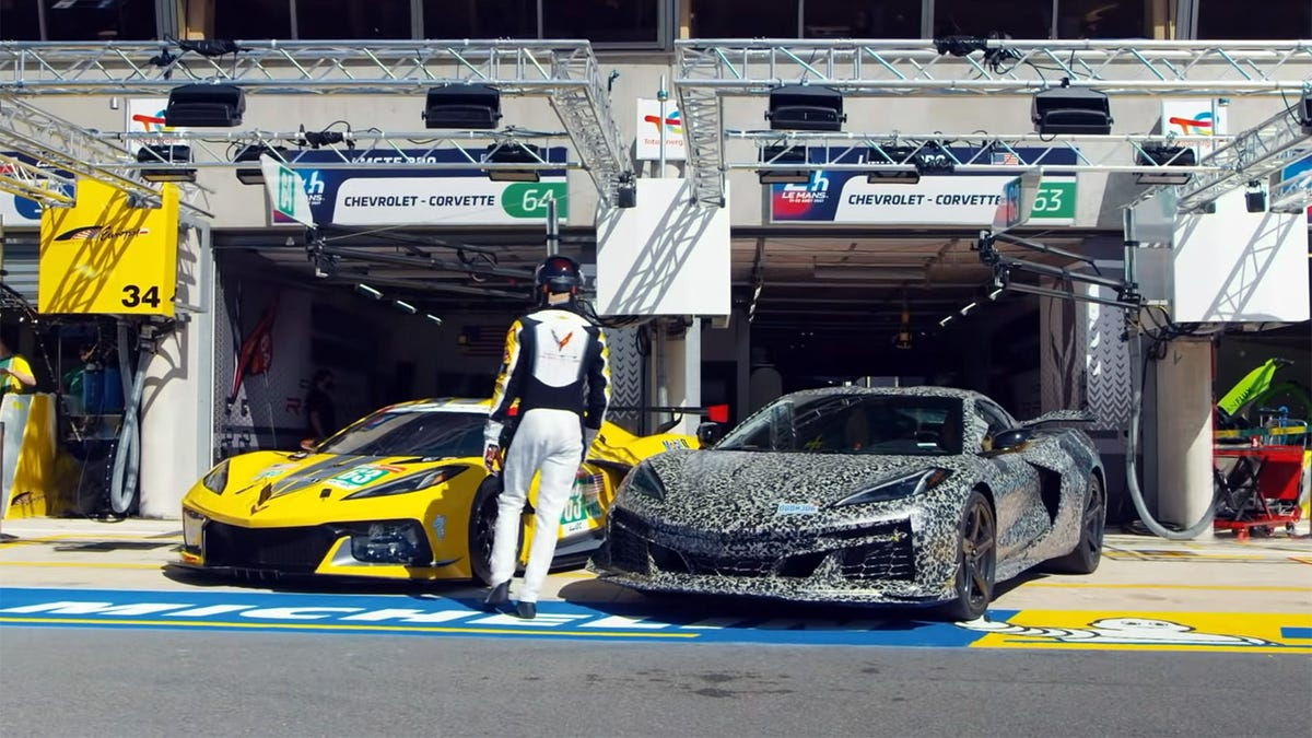 2023 Corvette Z06 neckt die Oktober-Enthüllung mit einer Fahrt um Le Mans