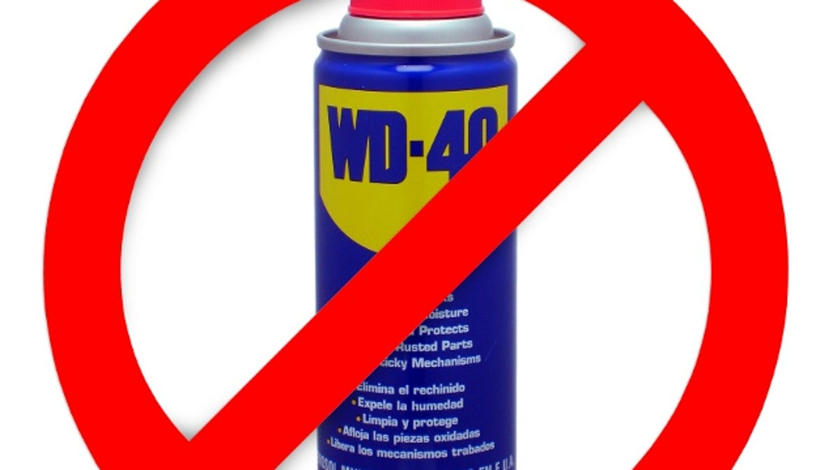 when should i not use wd-40?