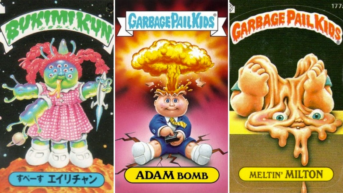 ENTIRE GARBAGE PAIL KIDS SERIES 1 TO 16 MORE ON CD