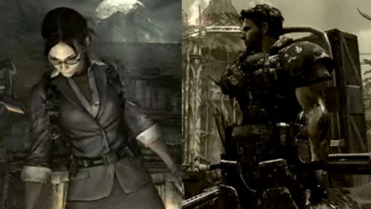 Re5 S Chris Is Heavy Metal But Sheva Is All Business