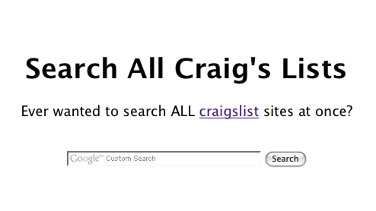 Search All Craigslist Sites at Once