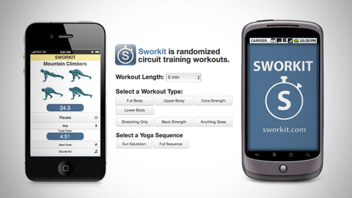 Sworkit Generates Random Workouts for Any Timeframe, Whether You've Got Five Minutes or an Hour