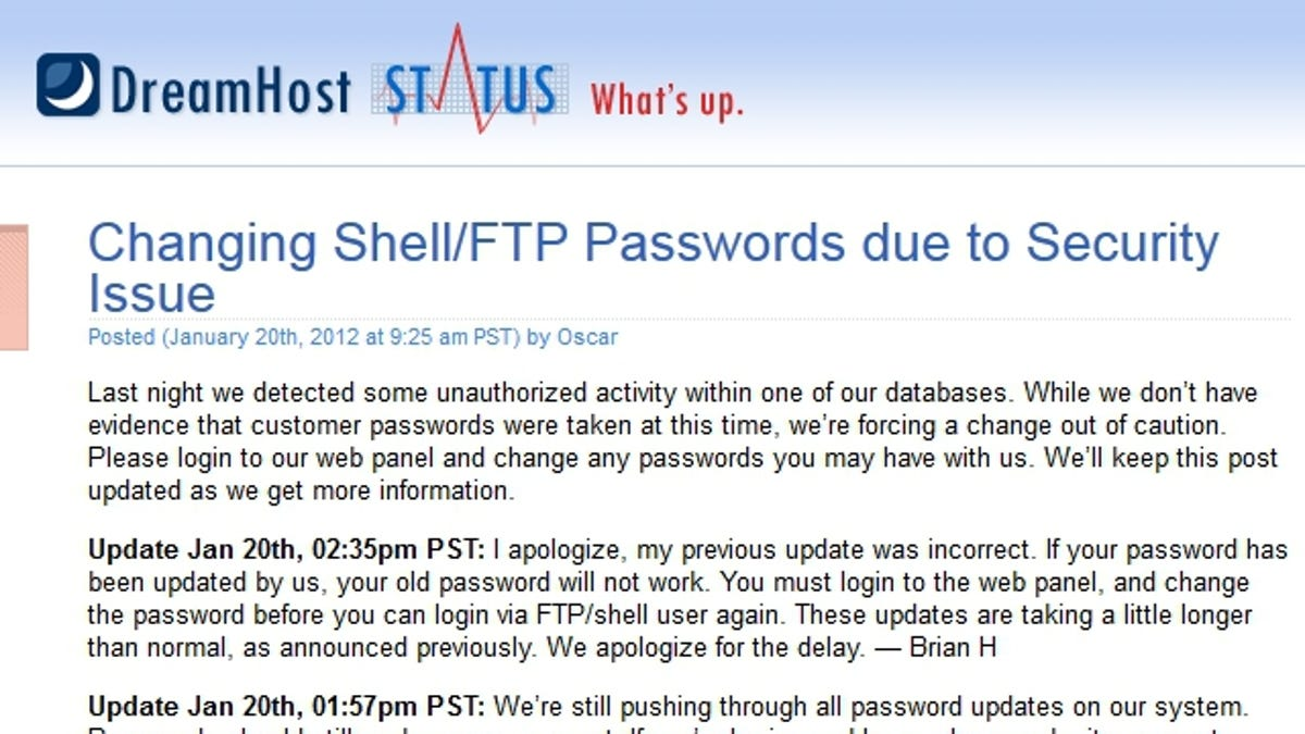 DreamHost Hacked; Change Your Passwords Now