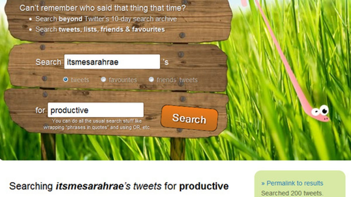 Snap Bird Helps You Find the Tweets That Got Away
