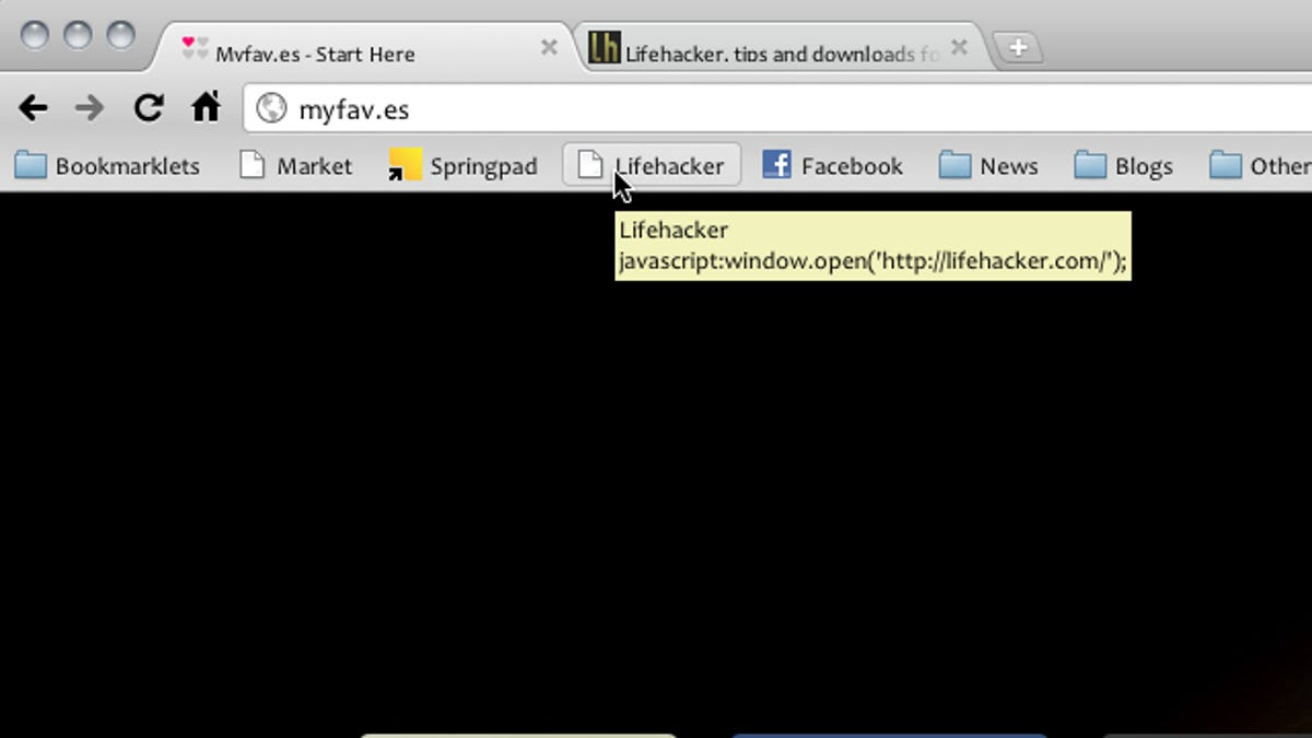 Set Bookmarks to Open in a New Tab