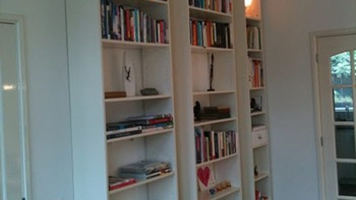 Float Ikea Bookcases For Maximum Shelf Space With Zero Footprint