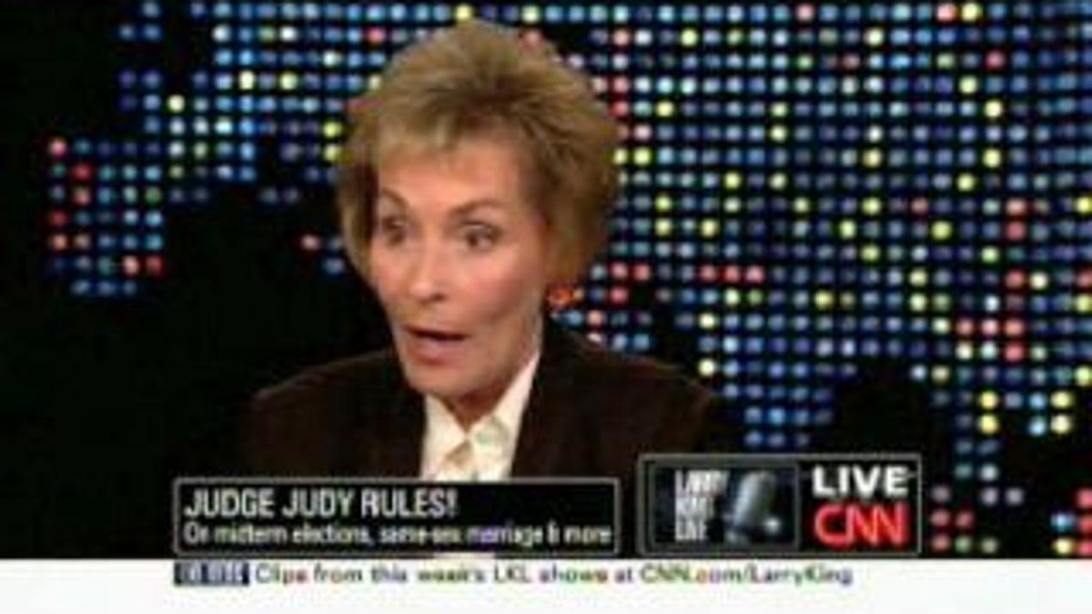 Judge Judy's Wisdom Extends To Same-Sex Marriage