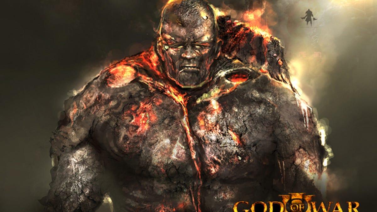Concept Art God Of War Iii S Fire Titan