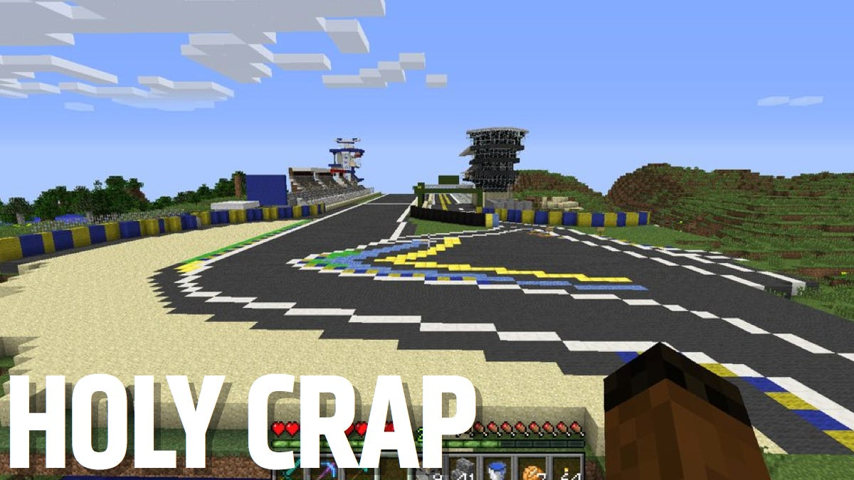 A Minecraft Wizard Built This Exact Replica Of Le Mans In border=