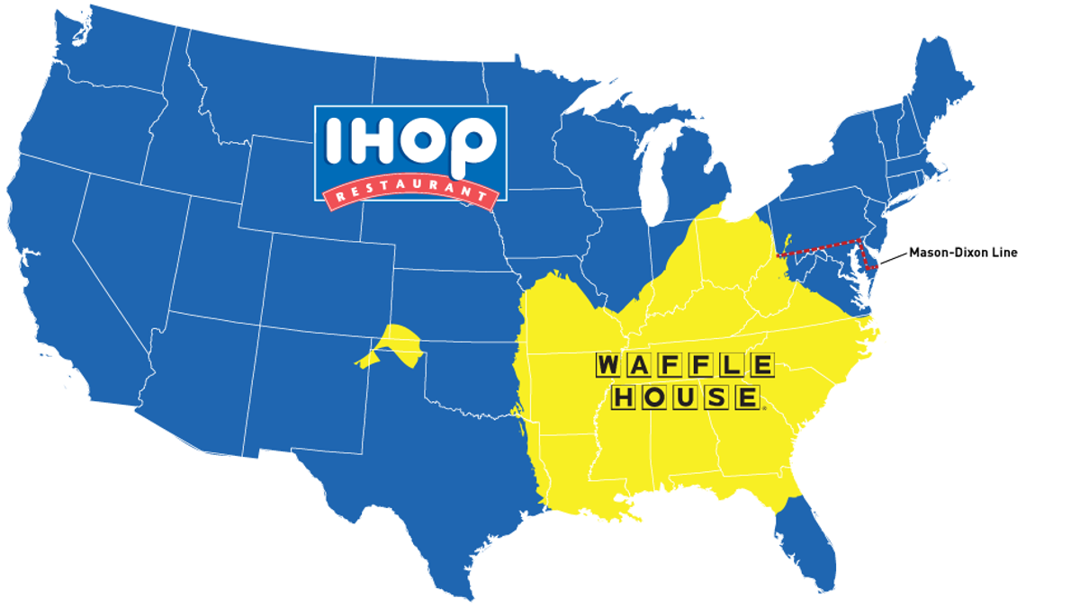 Map: Do You Live In IHOP America Or Waffle House America?