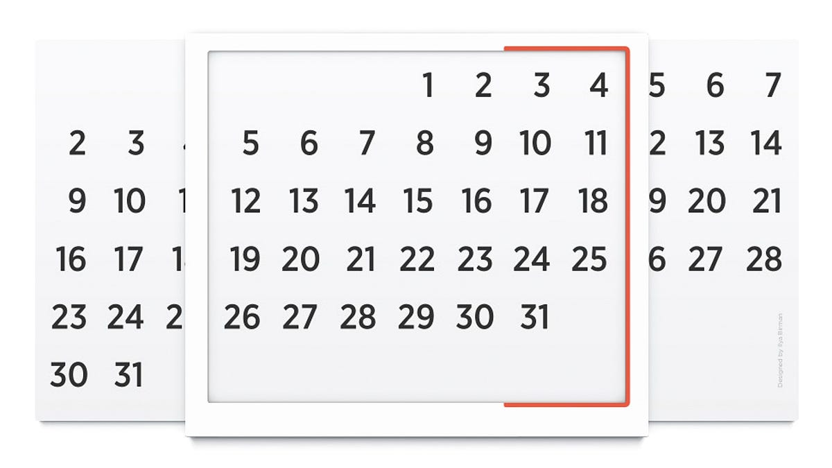 photograph about Perpetual Calendar Chart identify This Uncomplicated Chart Is a Brilliantly Small Perpetual Calendar