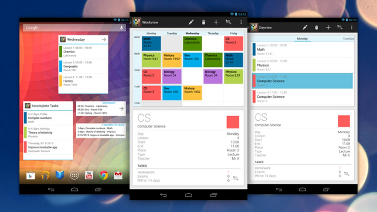 Timetable Is a Personal Organizer Designed for Students