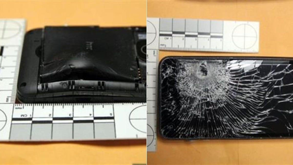 Un smartphone salva la vida de su propietario al detener una bala