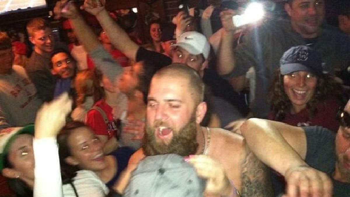 Image result for Boston World series shirtless drunk player