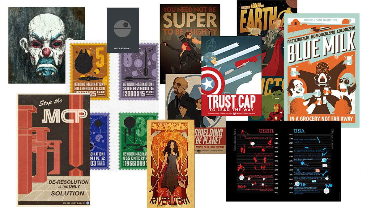 Geekin Gorgeous posters and art gift ideas for the geek in your life with